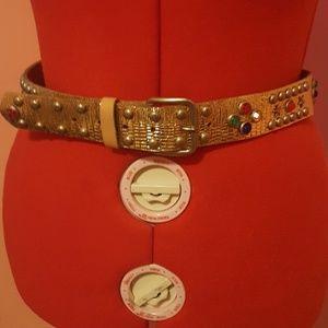 Vintage gold jeweled belt